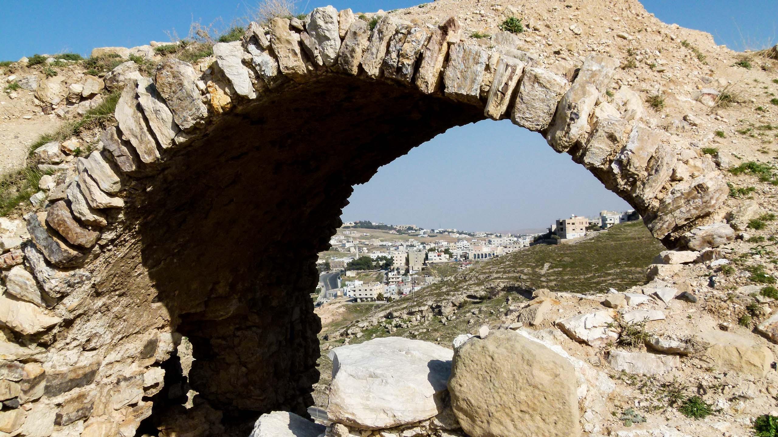 Rock archway in Jordan