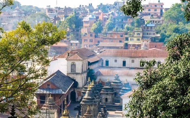 View over rooftops of Kathmandu, Nepal