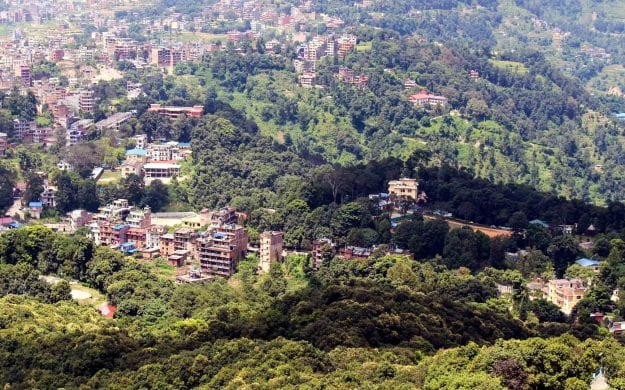 View over Kathmandu Valley from Dhulikhel, Nepal