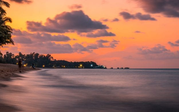 Beach at sunset in Ko Samui, Thailand