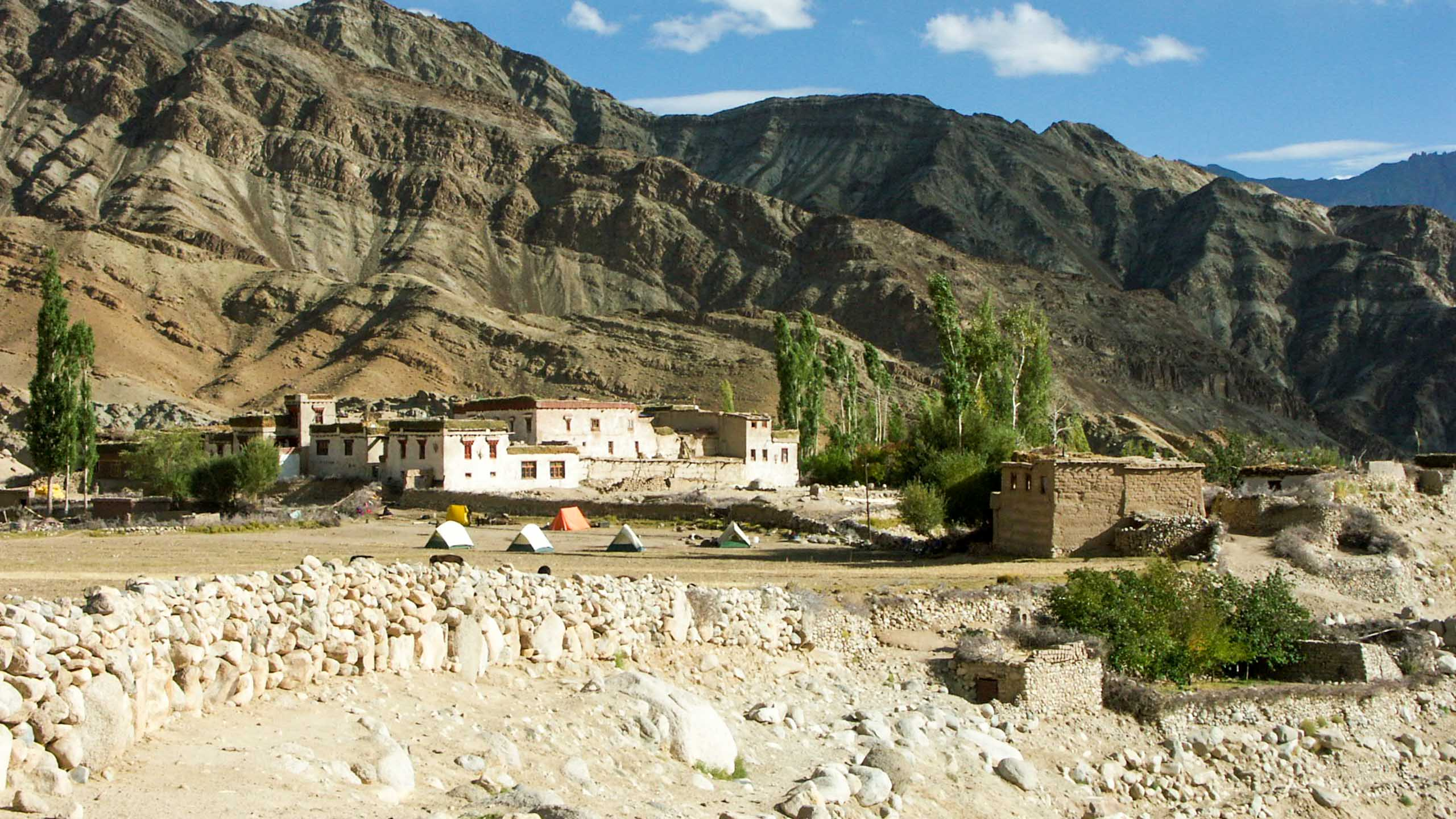 Ladakh building and tents