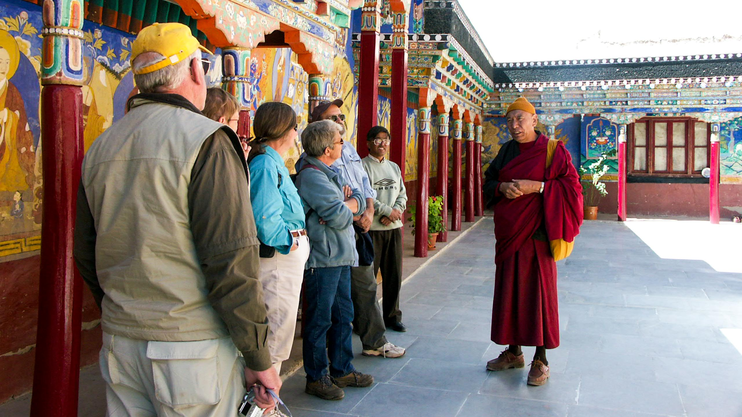 Travel group visits Ladakh monastery