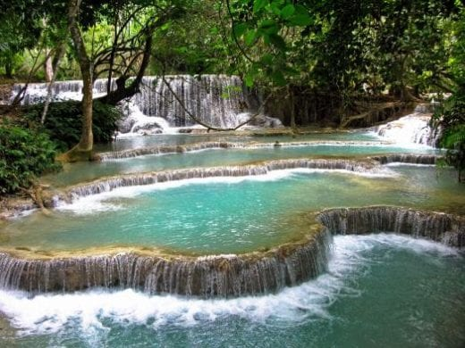 The Kuang Si Falls are an idyllic retreat