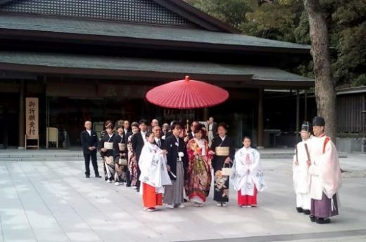 You might see a ceremony at the Meiji Shrine