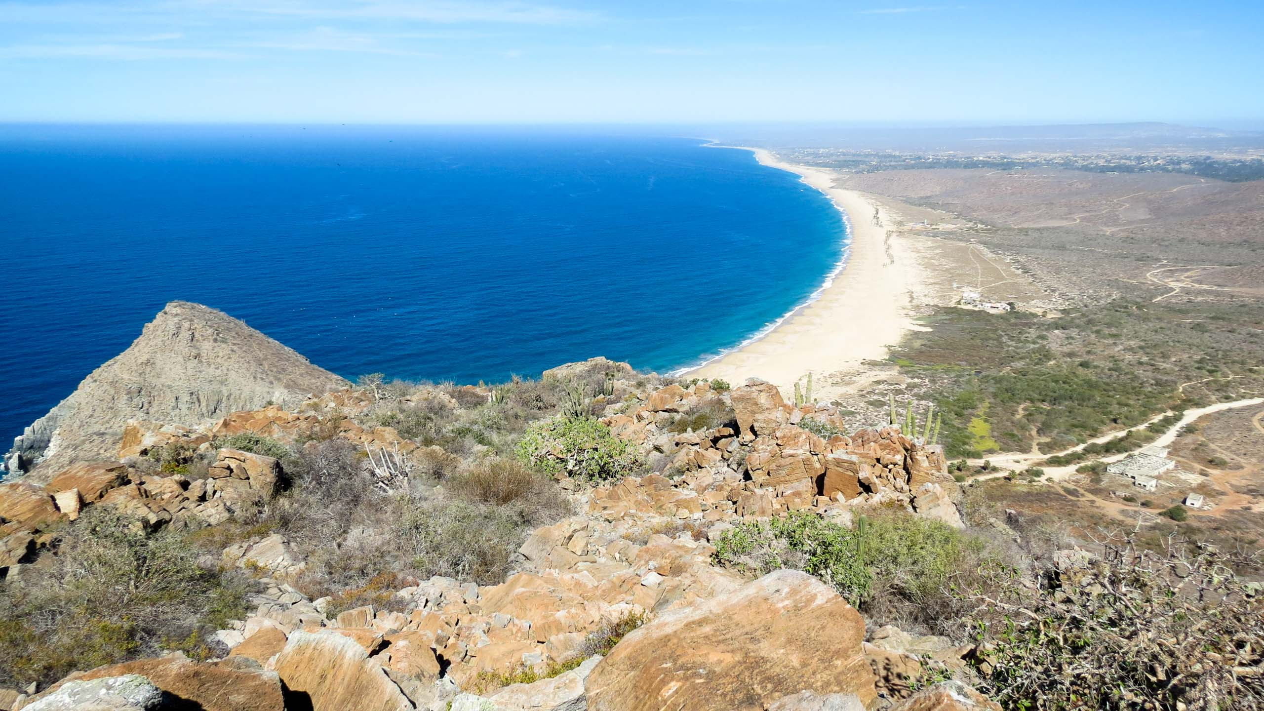 View of beach along Mexico coast