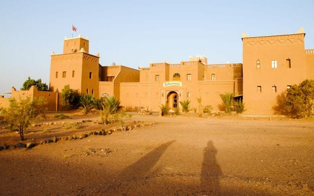 Building in the desert of Morocco