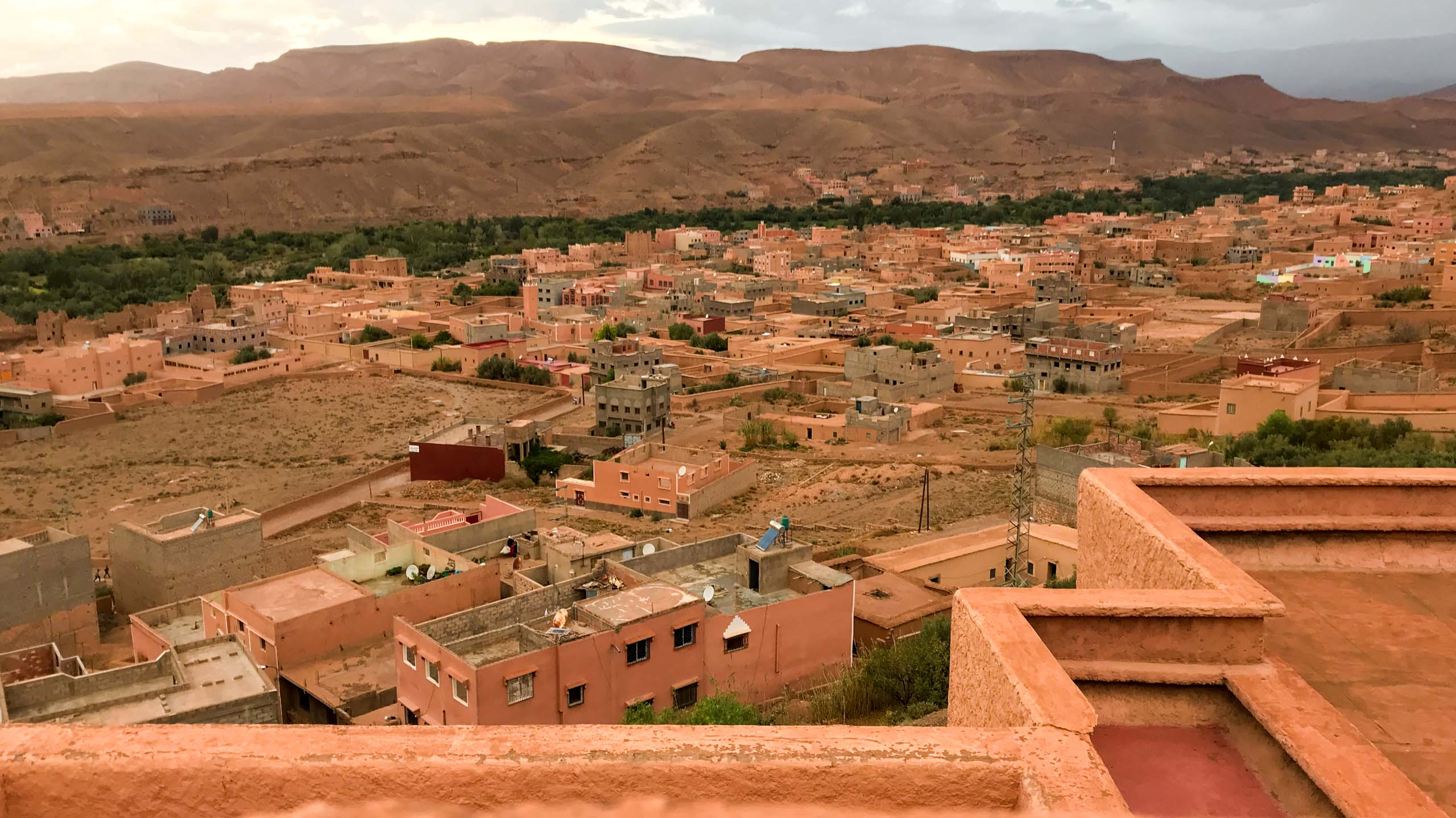 Aerial view of Morocco town