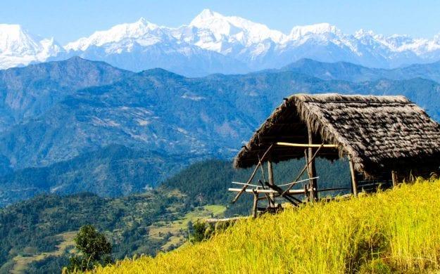 Hut near Mount Everest in Nepal