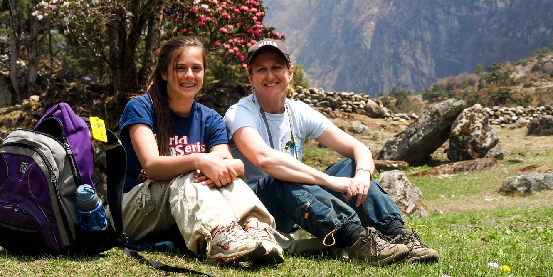 People take a break on Nepal trip
