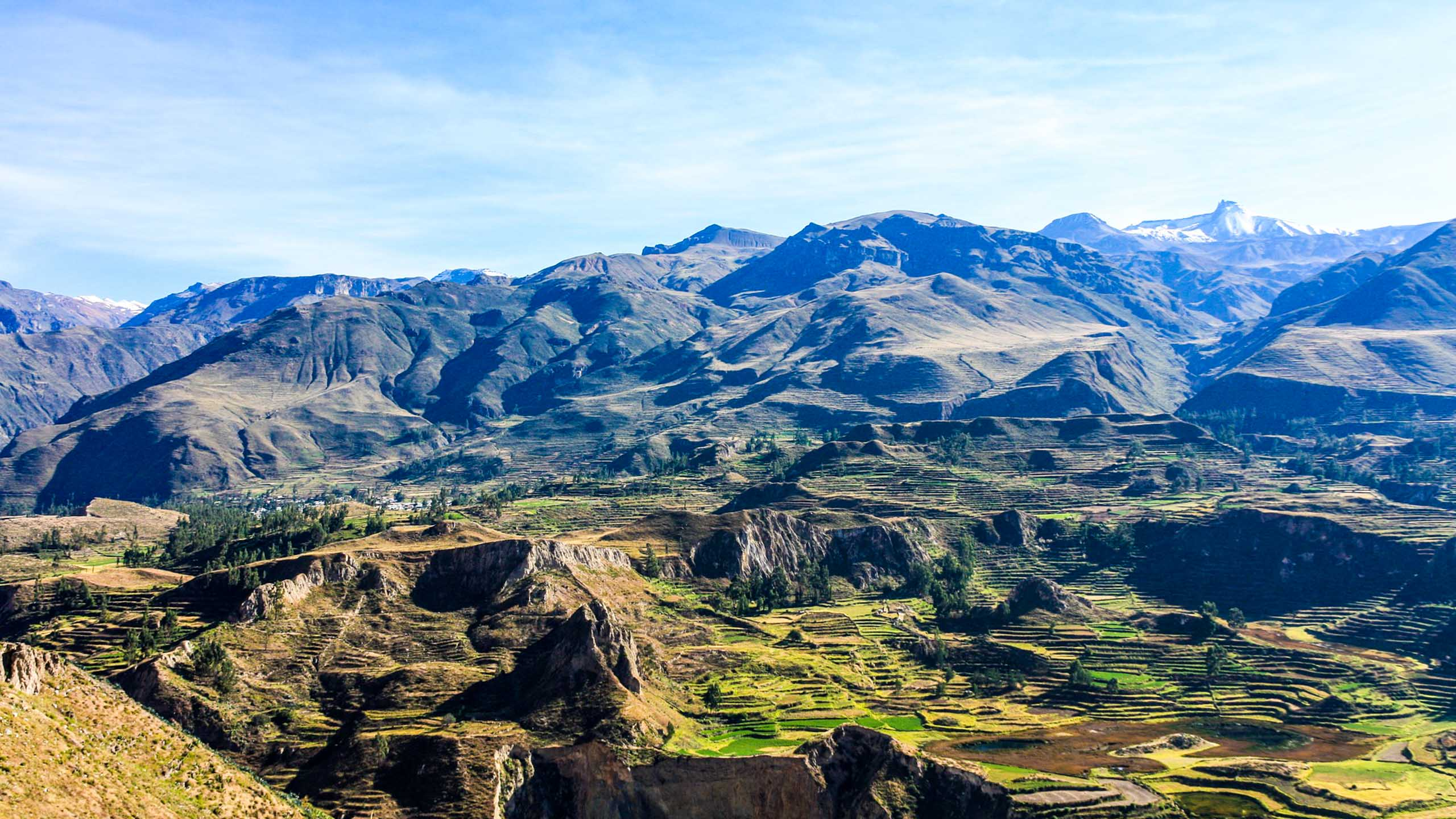 View over Colca Canyon in Peru