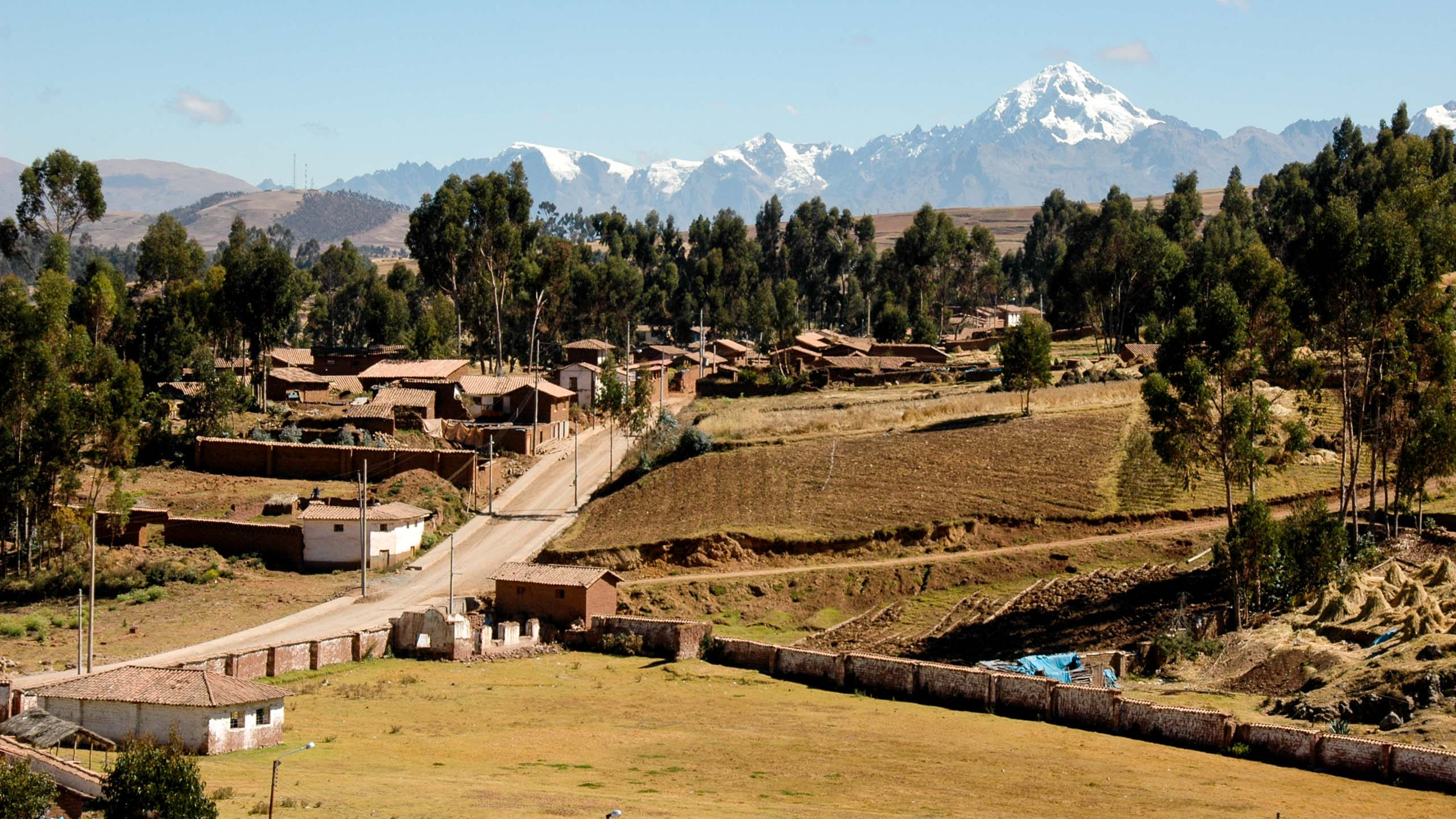Road through valley in Peru