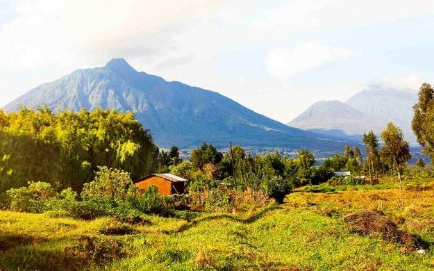 Volcanes National Park landscape in Rwanda