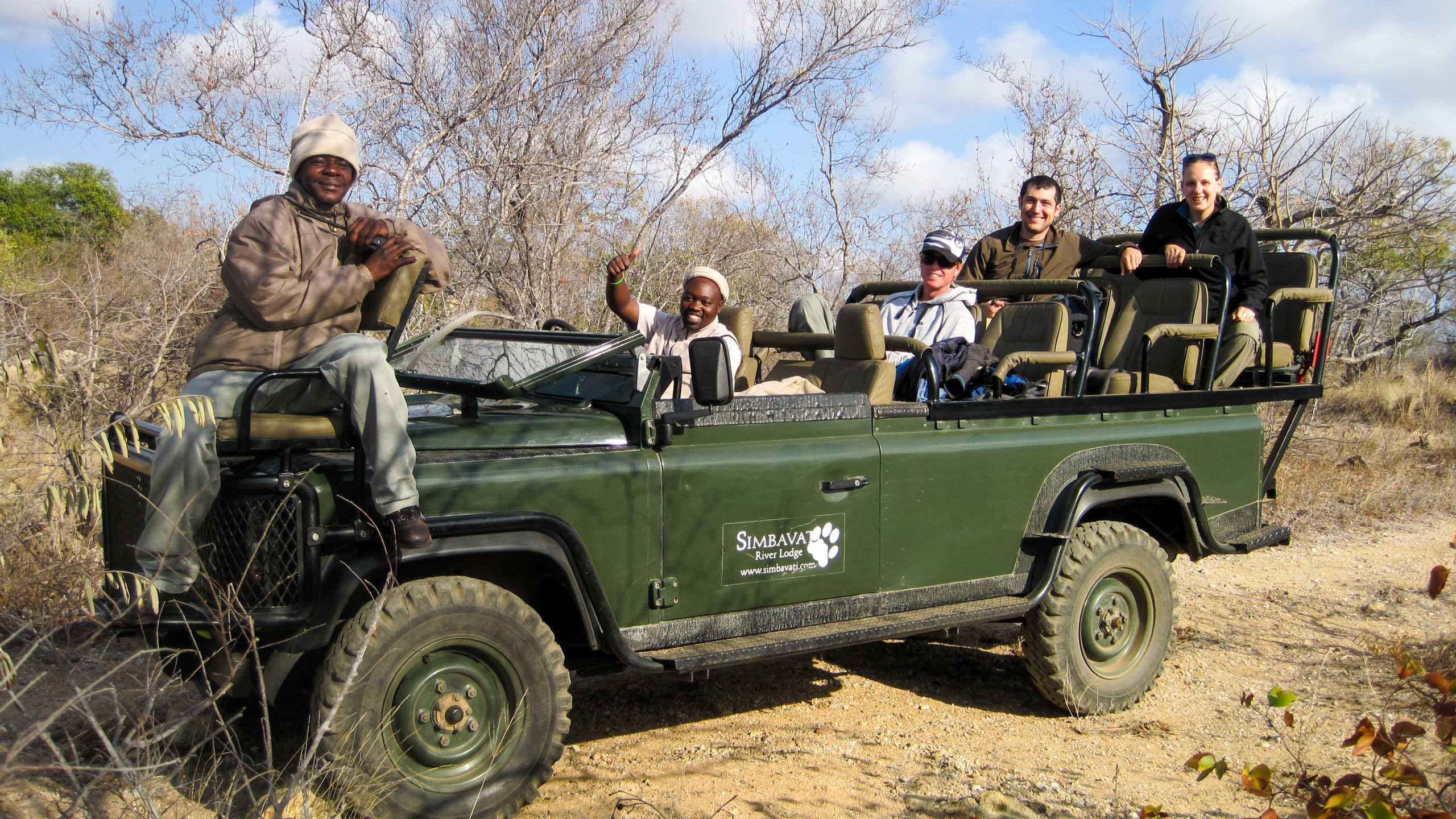 South Africa open vehicle safari group
