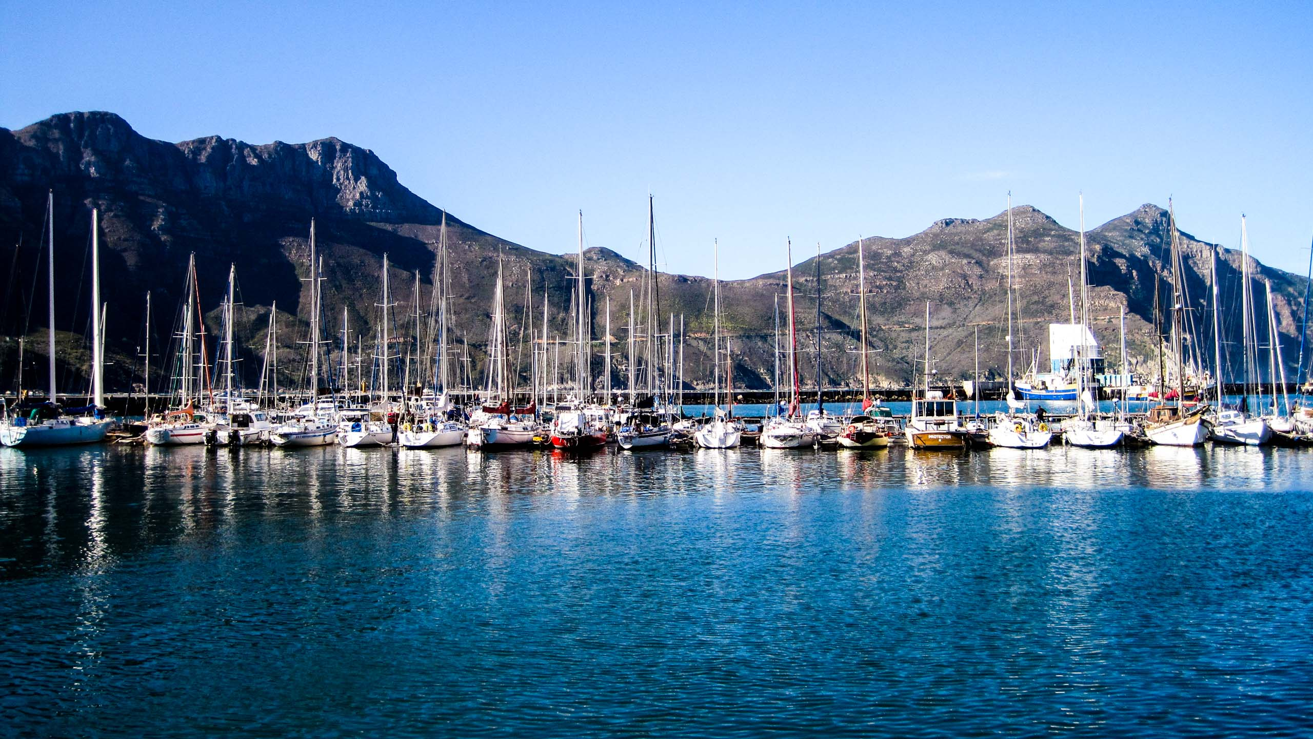 Boats in South Africa harbor