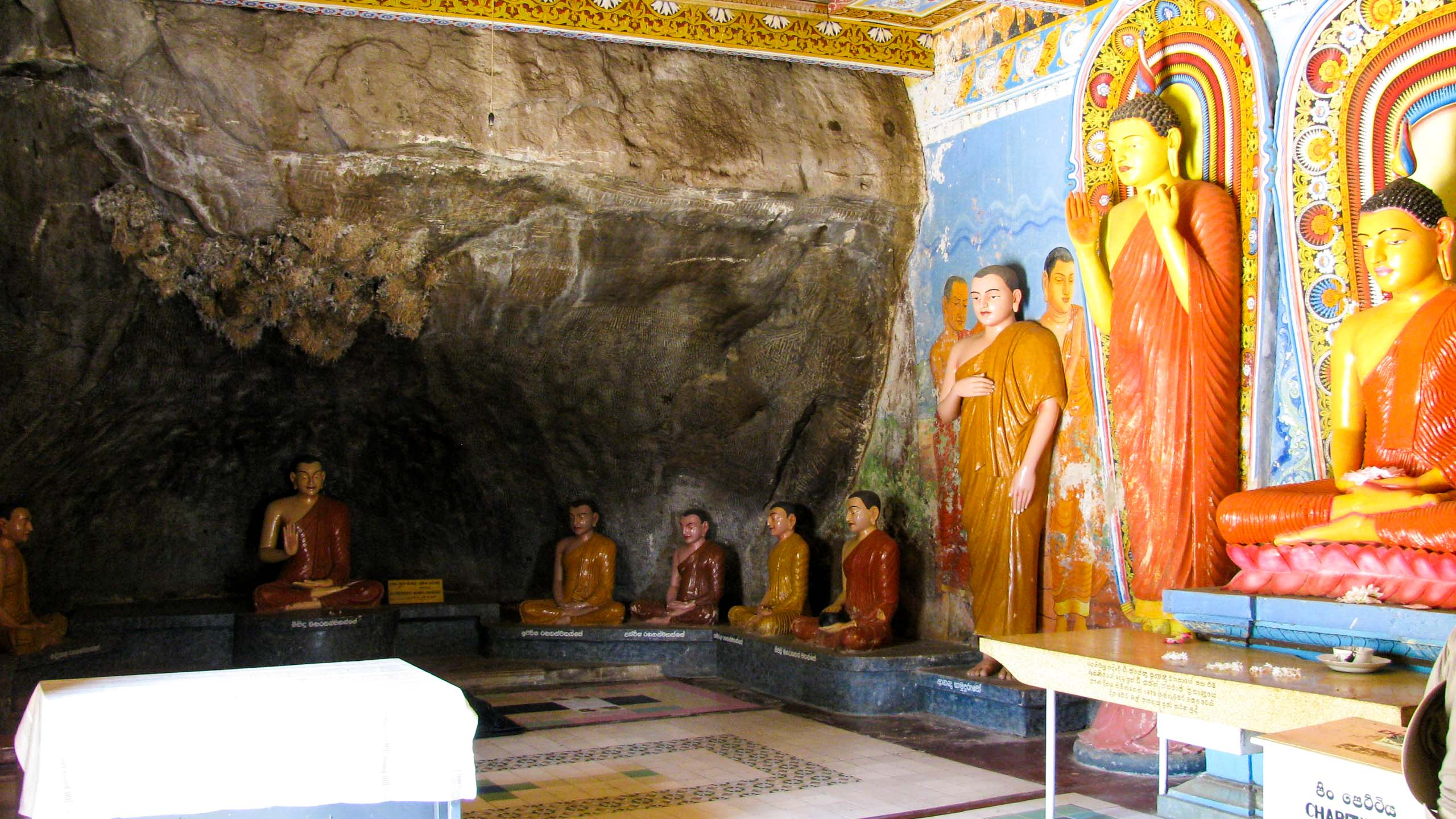 Interior of Sri Lanka temple