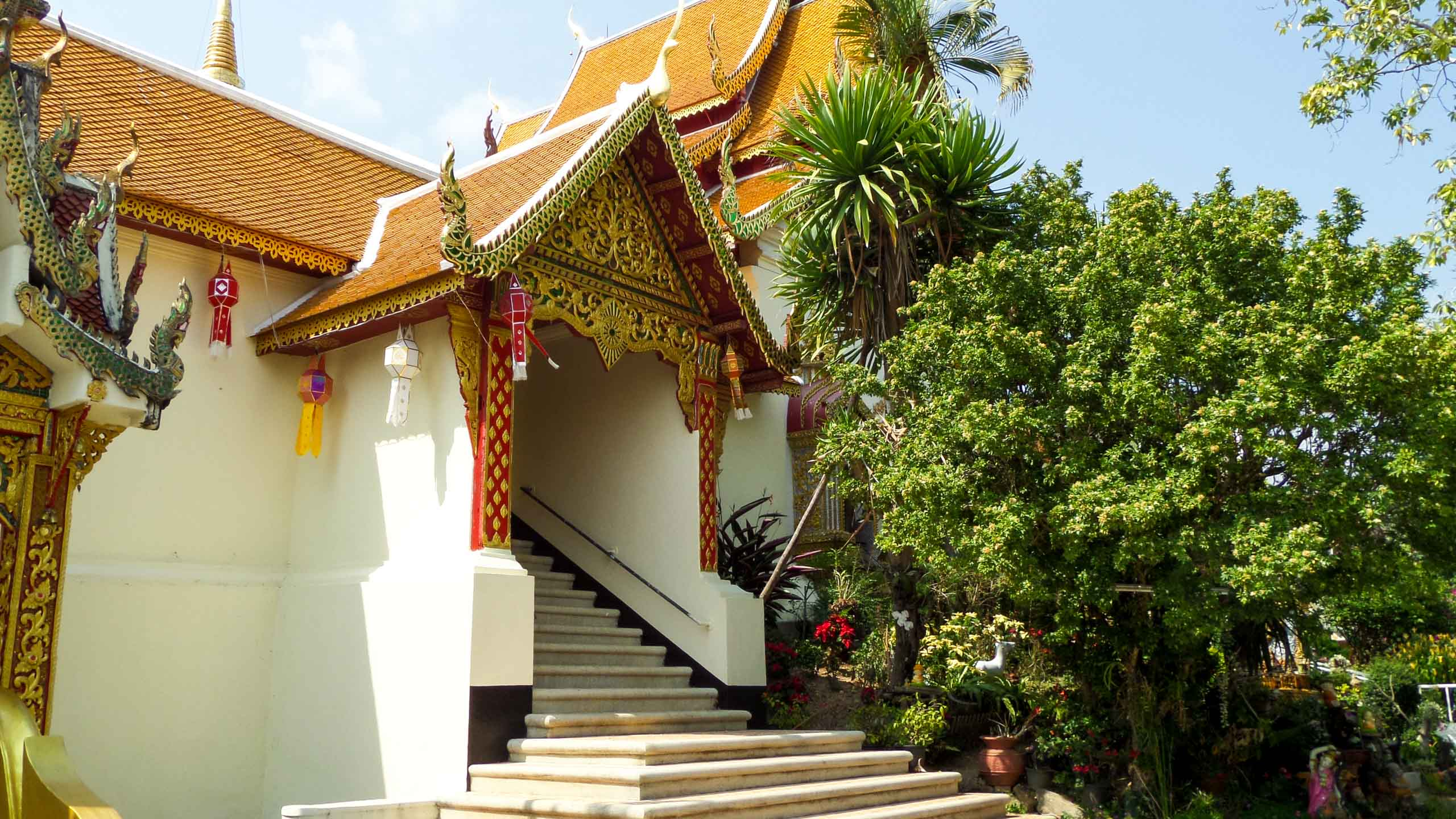 Front steps of building in Thailand