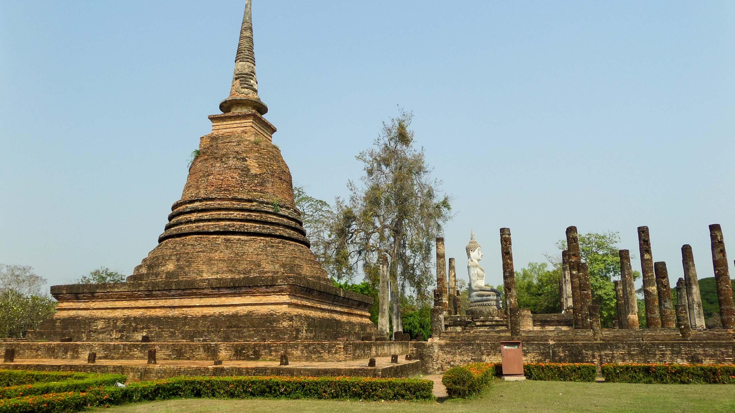 Sukhothai spires in Thailand