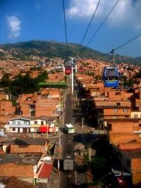 The Medellin metro cable