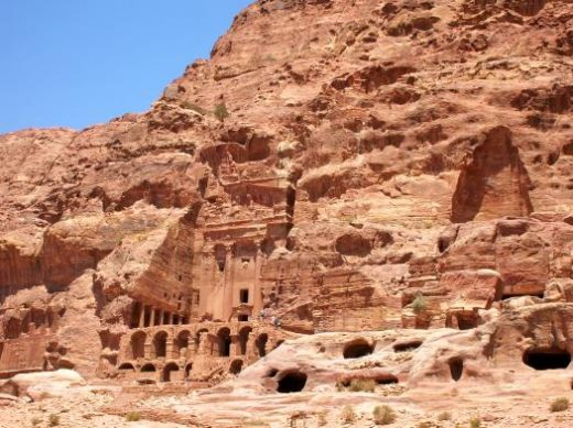Explore the tombs built in Petra's hillside