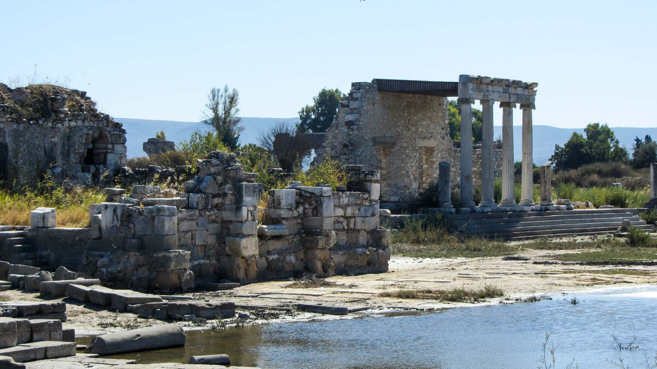View of ruins in Turkey