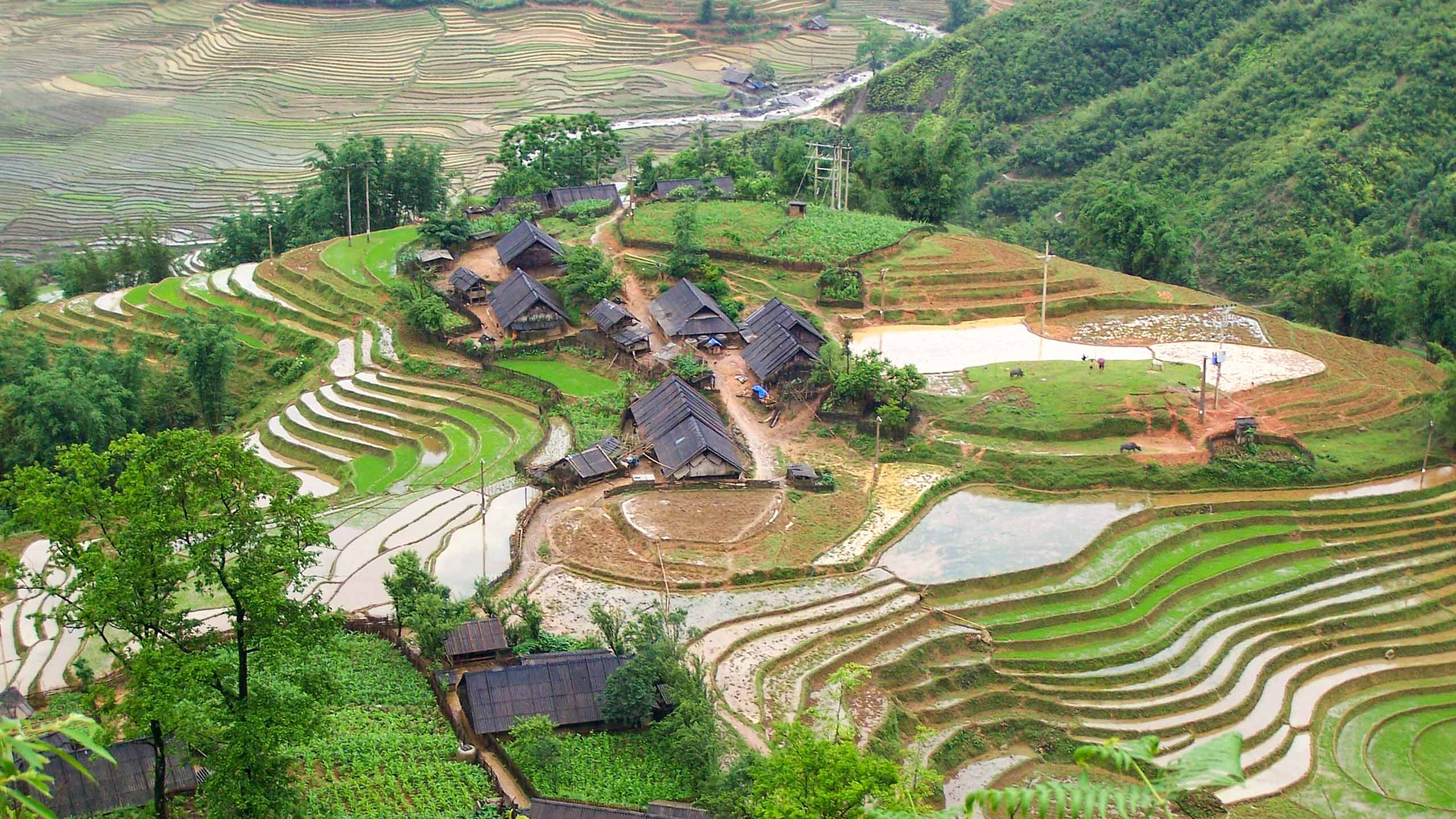 Village on a hill in Vietnam