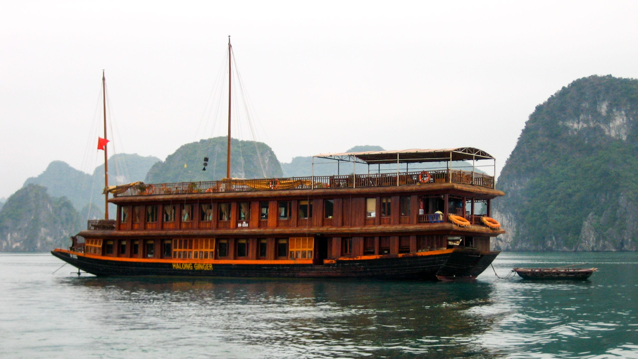 River boat on the Mekong River in Vietnam