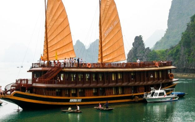 Vietnam river cruise ship on Mekong River
