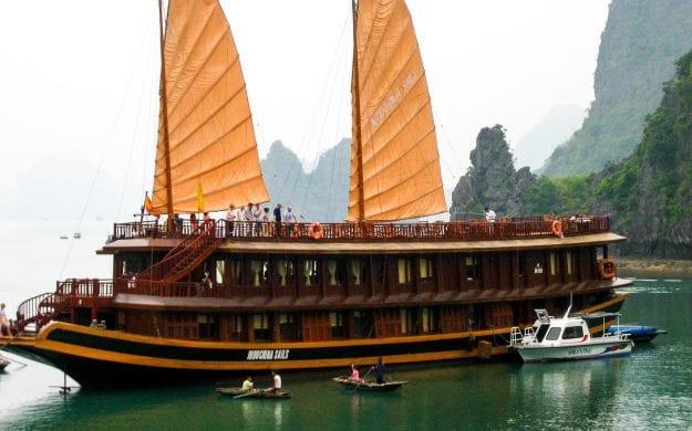 Vietnam river cruise ship on Mekong River