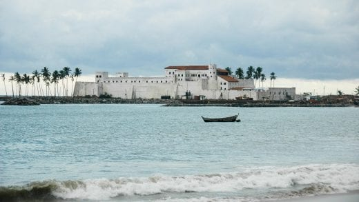 Elmina Castle on Ghana shoreline