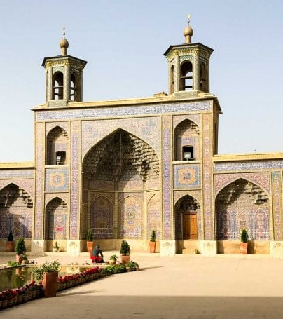 Courtyard of Iran temple