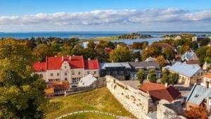 small town Haapsalu in Estonia