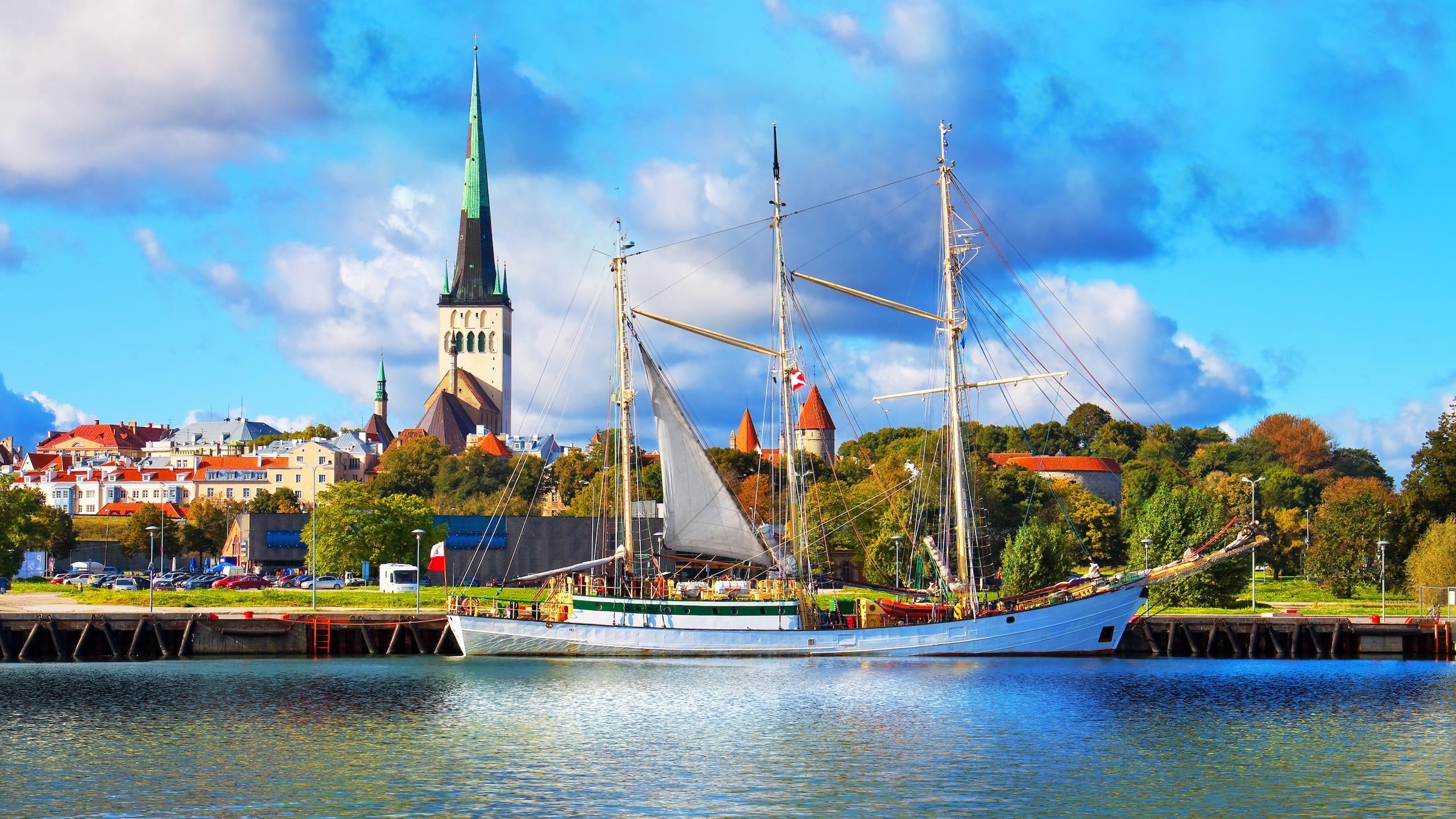 Coastline in Tallinn, Estonia