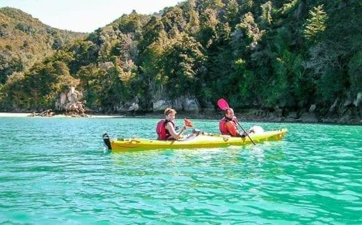Take a kayak out on Lake Moeraki