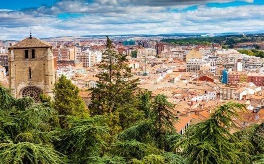 Panorama of Burgos, Spain