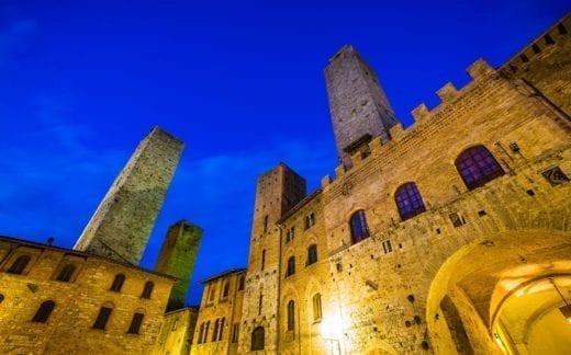 Historical town San Gimignano , Siena, Tuscany, Italy