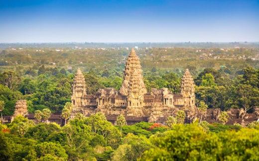 Angkor Thom Aerial View Cambodia