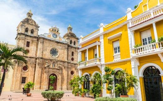 Beautiful church in Cartagena - Colombia