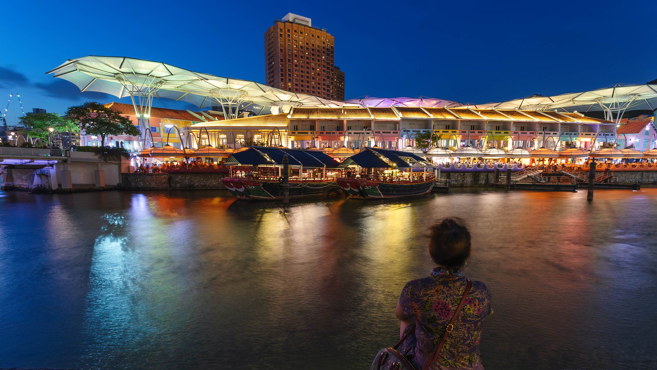 Night in Clarke Quay, Singapore