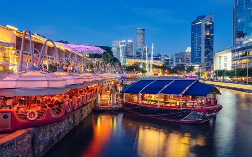 Evening in Clarke Quay