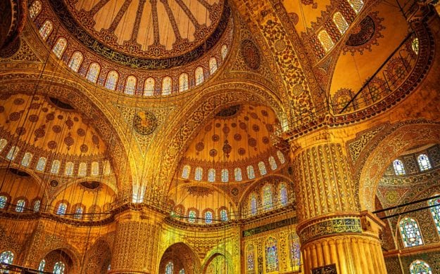 Interior of Blue Mosque, Istanbul