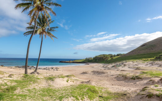 Anakena Beach on Easter Island (Rapa Nui)