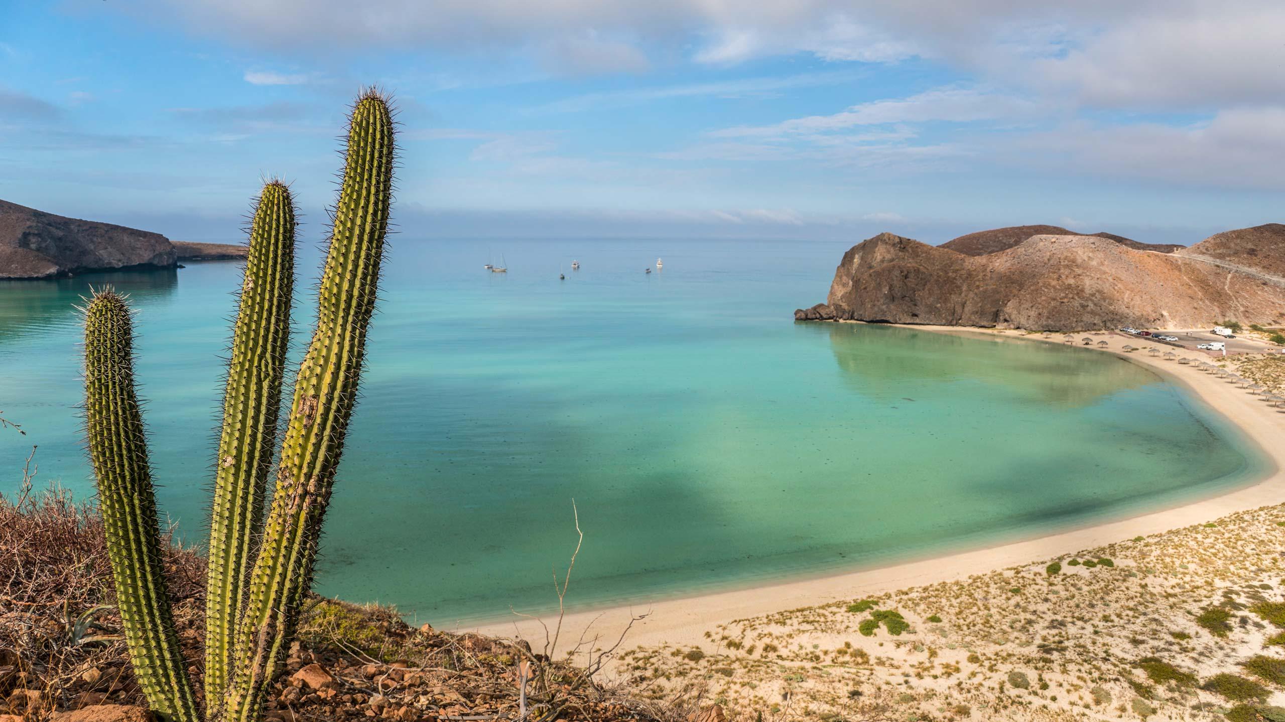 Balandra Beach on the Gulf of California near La Paz Mexico on Baja California Sur
