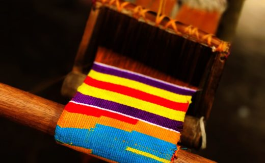 kente cloth loom in Ghana